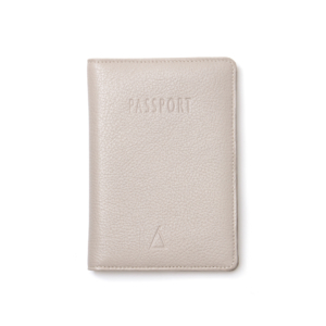 Diana - Porta Passaportes de Couro - Off White